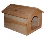 Деревянный домик для кошек №1