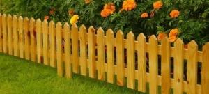 Забор деревянный декоративный №1