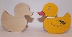 Утка деревянная игрушка