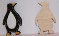 Деревянная заготовка для резьбы и росписи Пингвин