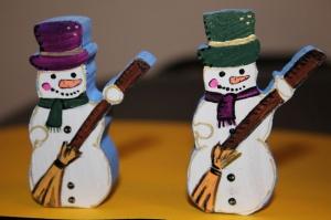 Снеговик - акриловые краски