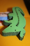 Зеленый крокодил - акриловые краски